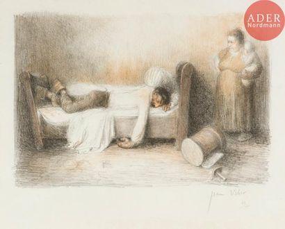 Jean Veber (1864-1928) Le Pochard sur le...