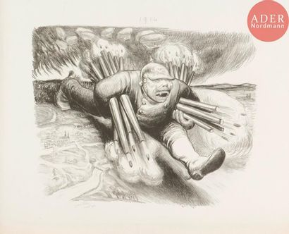 Jean Veber (1864-1928) La Brute est lâchée....