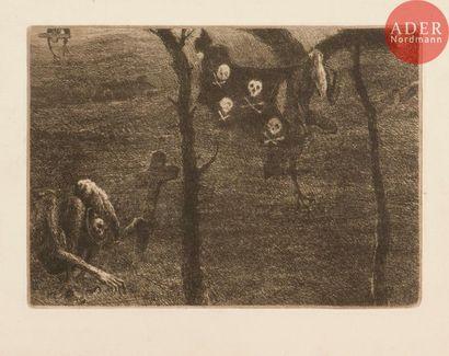 Eugène Viala (1859-1913) Occident. Eau-forte....