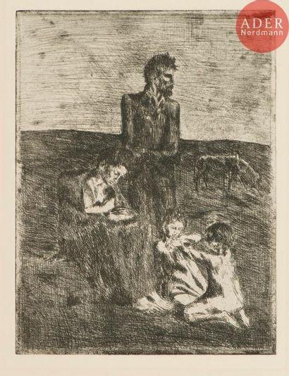 Pablo Picasso (1881-1973) Les Pauvres. (Pl....