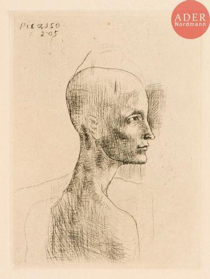 Pablo Picasso (1881-1973) Buste d'homme....