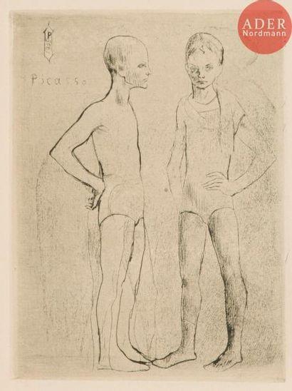 Pablo Picasso (1881-1973) Les Deux saltimbanques....