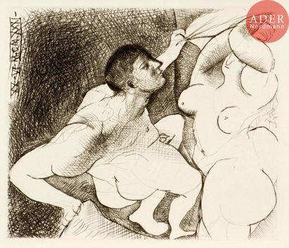 Pablo Picasso (1881-1973) Homme dévoilant...