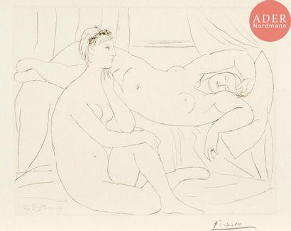 Pablo Picasso (1881-1973) Deux femmes se...