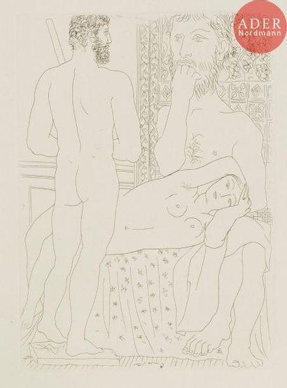 Pablo Picasso (1881-1973) Sculpteur, modèle...
