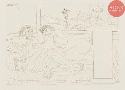 Pablo Picasso (1881-1973) Le Repos du sculpteur....