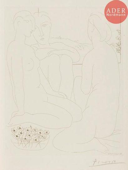 Pablo Picasso (1881-1973) Trois femmes nues...