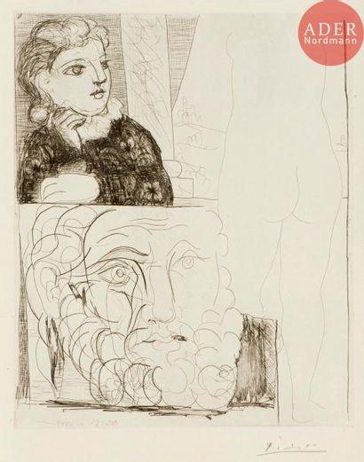 Pablo Picasso (1881-1973) Femme accoudée,...