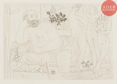 Pablo Picasso (1881-1973) Sculpteur et trois...