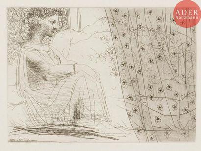 Pablo Picasso (1881-1973) Minotaure endormi...