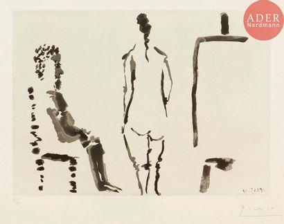 Pablo Picasso (1881-1973) Peintre au repos...