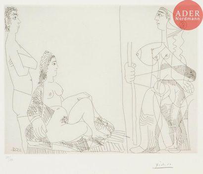 Pablo Picasso (1881-1973) Couple et voyageuse....