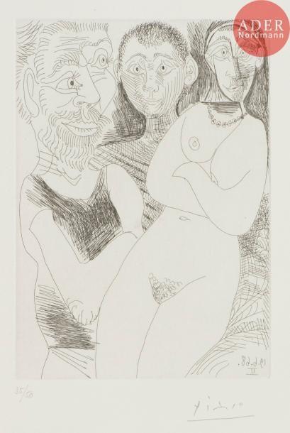 Pablo Picasso (1881-1973) Prostituée et marins....