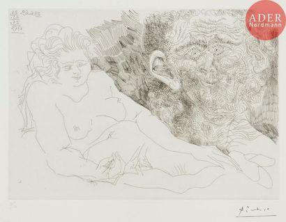 Pablo Picasso (1881-1973) Vieux peintre et...