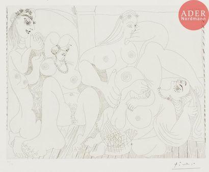 Pablo Picasso (1881-1973) Autour du «Bain...