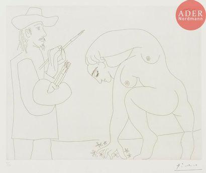 Pablo Picasso (1881-1973) Peintre et femme...
