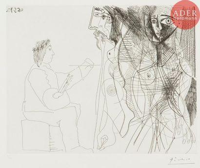 Pablo Picasso (1881-1973) Le Peintre et la...