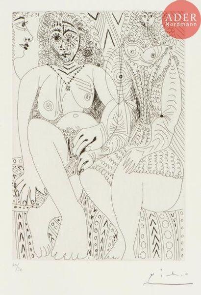 Pablo Picasso (1881-1973) Trois filles, dont...