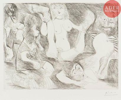 Pablo Picasso (1881-1973) Bain de minuit,...