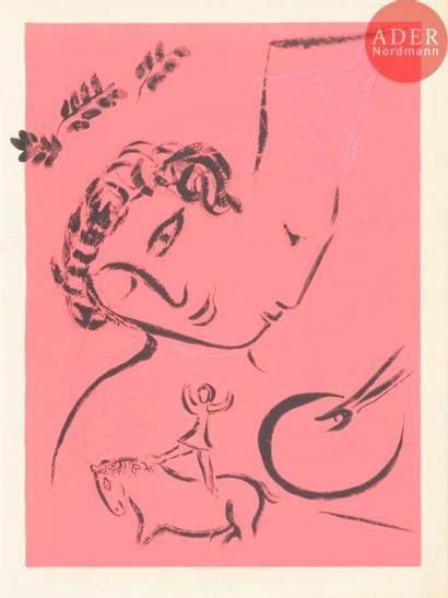 Un fort lot par Chagall, Clavé, Courtin,...