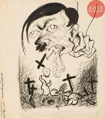 André Fougeron (1913-1998) La Bête étranglée....