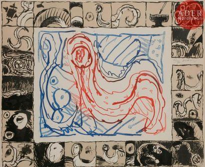 Pierre Alechinsky (né en 1927) Voilée comme...