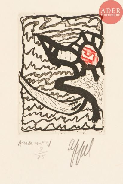 Pierre Alechinsky (né en 1927) et Karel Appel...
