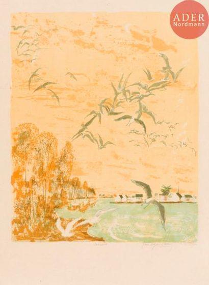 Pierre-Eugène Clairin (1897-1980) Mouettes....
