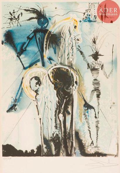 Salvador Dalí (1904-1989) Don Quichotte....