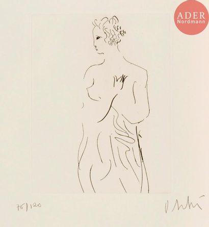 Olivier Debré (1920-1999) Femme à la draperie....