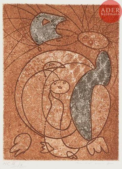 Max Ernst (1891-1976) Les Énergumènes. 1965....