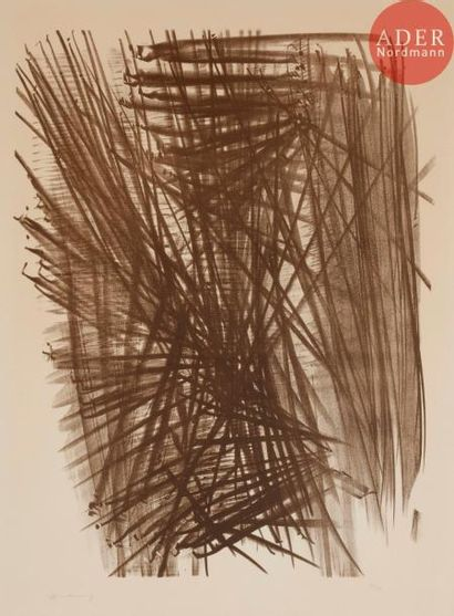 Hans Hartung (1904-1989) L 97. 1963. Lithographie....