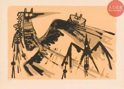 Wifredo Lam (1902-1982) Sans titre. 1966....