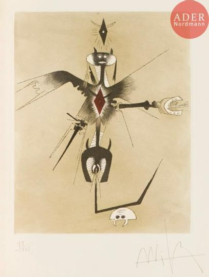 Wifredo Lam (1902-1982) Croiseur noir. (Pl....