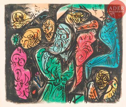 André Masson (1896-1987) Astres et visages....