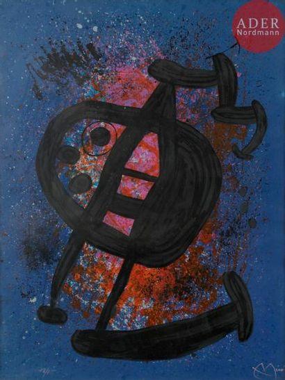 Joan Miró (1893-1983) Le Grand écart. 1969....