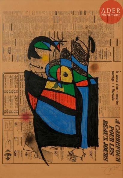 Joan Miró (1893-1983) Le Journal. 1972. Lithographie....