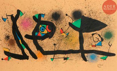 Joan Miró (1893-1983) Sculptures. 1974. Lithographie....