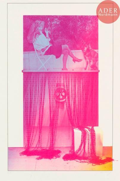 Jacques Monory (né en 1924) Femme au chien...