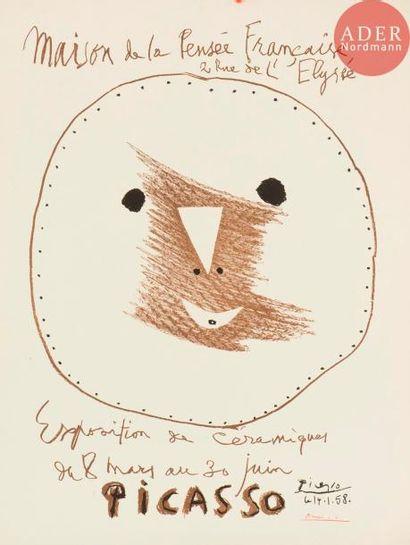 Pablo Picasso (1881-1973) Visage. Maison...