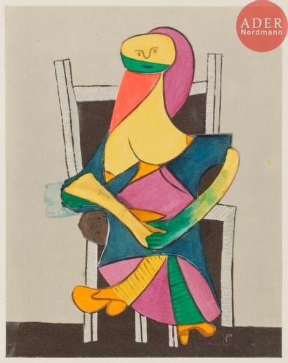 Pablo Picasso (1881-1973) (d'après) Picasso,...