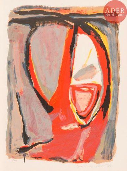 Bram van Velde (1895-1981) Tête. 1969. Lithographie....
