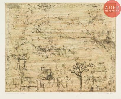 Zao Wou-Ki (1920-2013) Les Maisonnettes....