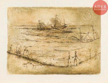 Zao Wou-Ki (1920-2013) Marine. 1952. Lithographie....