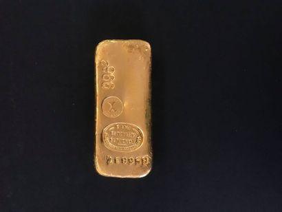 1 lingot d'or, 856837. Frais acheteur : 8%...