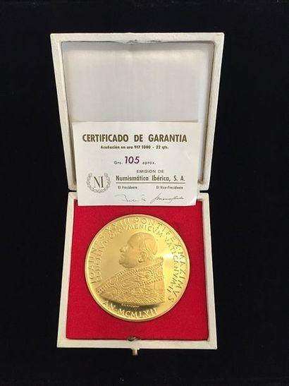 Médaille en or comémorative Jean XXIII. Vatican...
