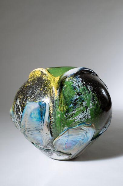 Jean-Claude NOVARO (1943-2015) Vase boule...