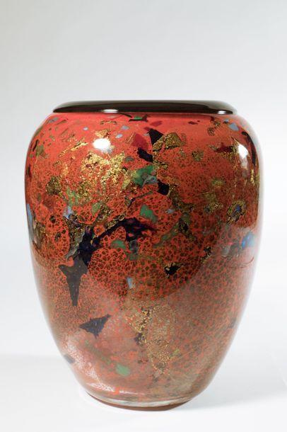Jean-Claude NOVARO (1943-2015) Vase ovoïde...