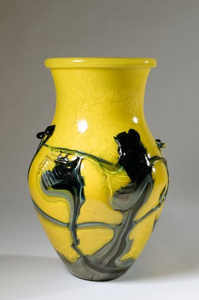 Jean-Claude NOVARO (1943-2015) Vase balustre...
