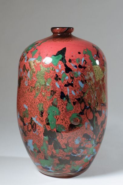 Jean-Claude NOVARO (1943-2015) . Vase à col...
